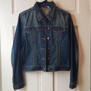 H&M Denim Jacket - Medium Wash, Size 8
